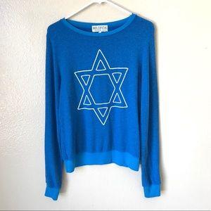 Wildfox Star of David Beach Jumper Sweatshirt